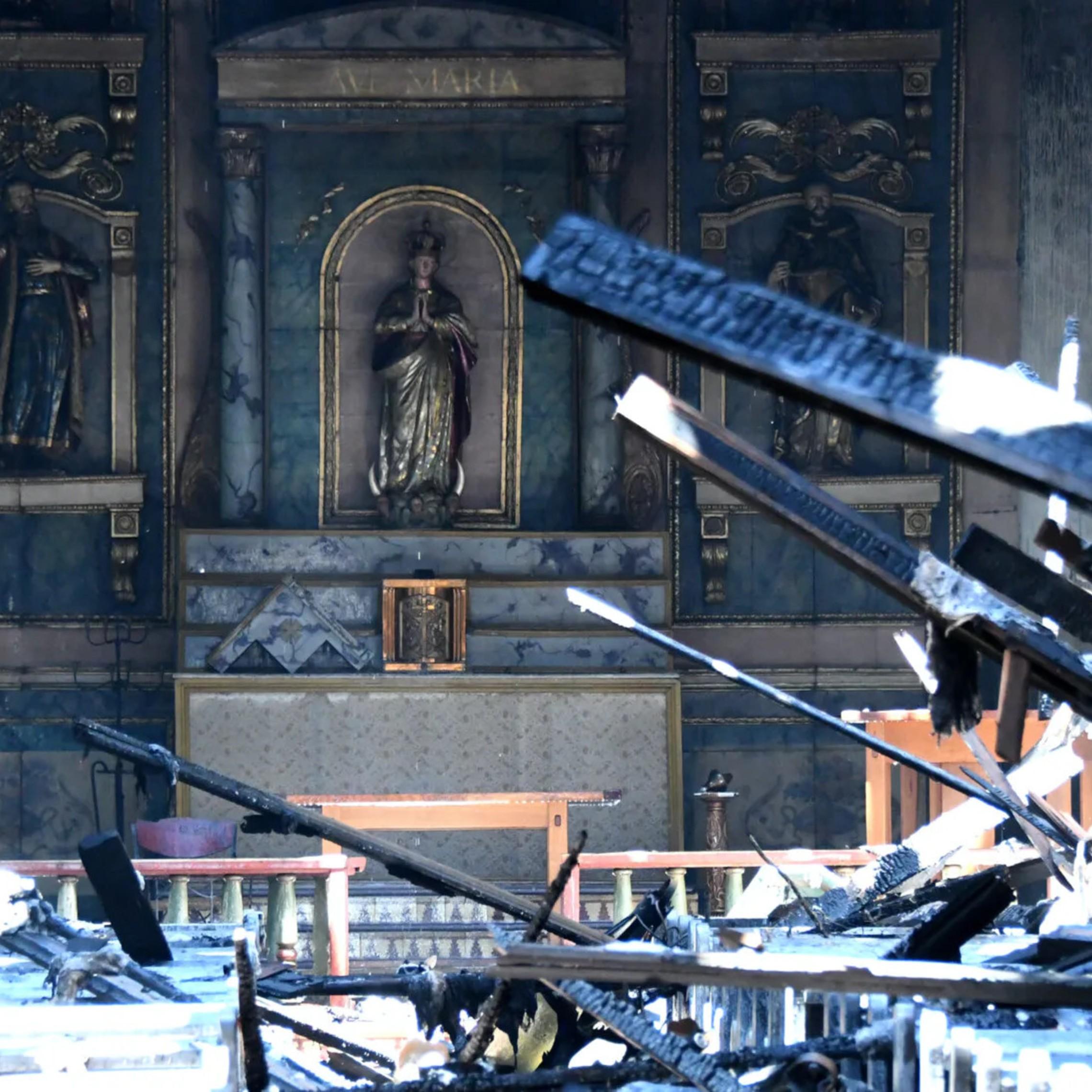 Vandalized Catholic Church