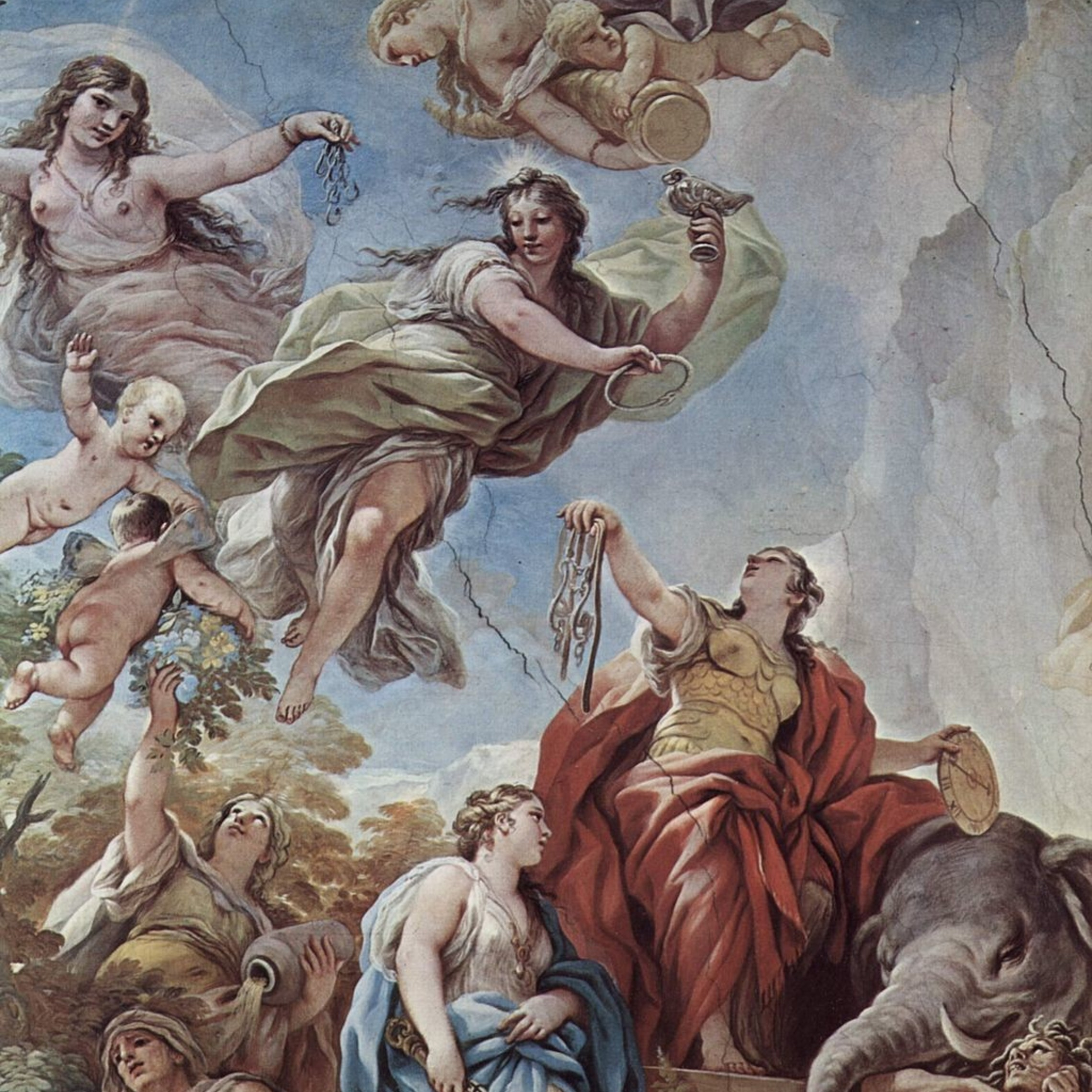 Virtue Of Temperance Luca Giordano