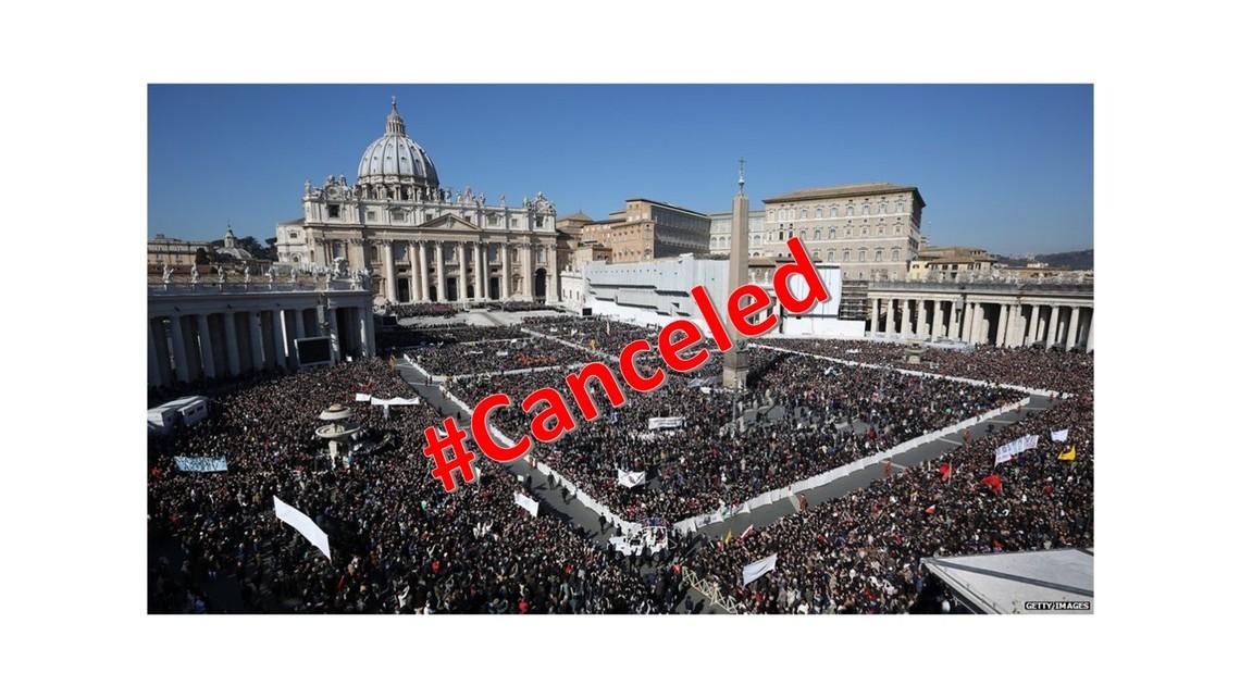 Cancel Culture:   Catholic Church