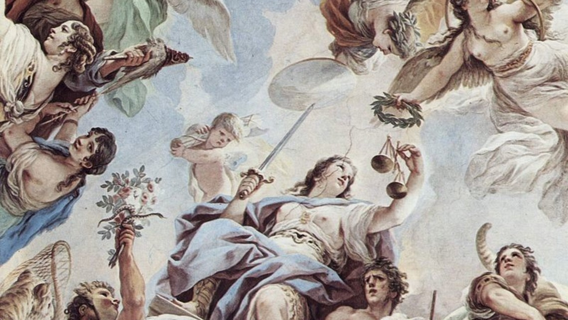 Virtue Of Justice   Luca Giordano